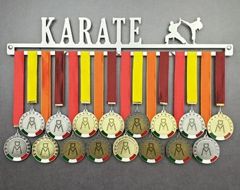 KARATE stainless steel wall medal hanger 100% made in Italy