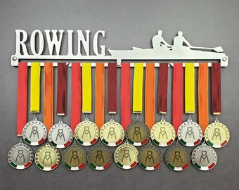 ROWING stainless steel wall medal hanger 100% made in Italy