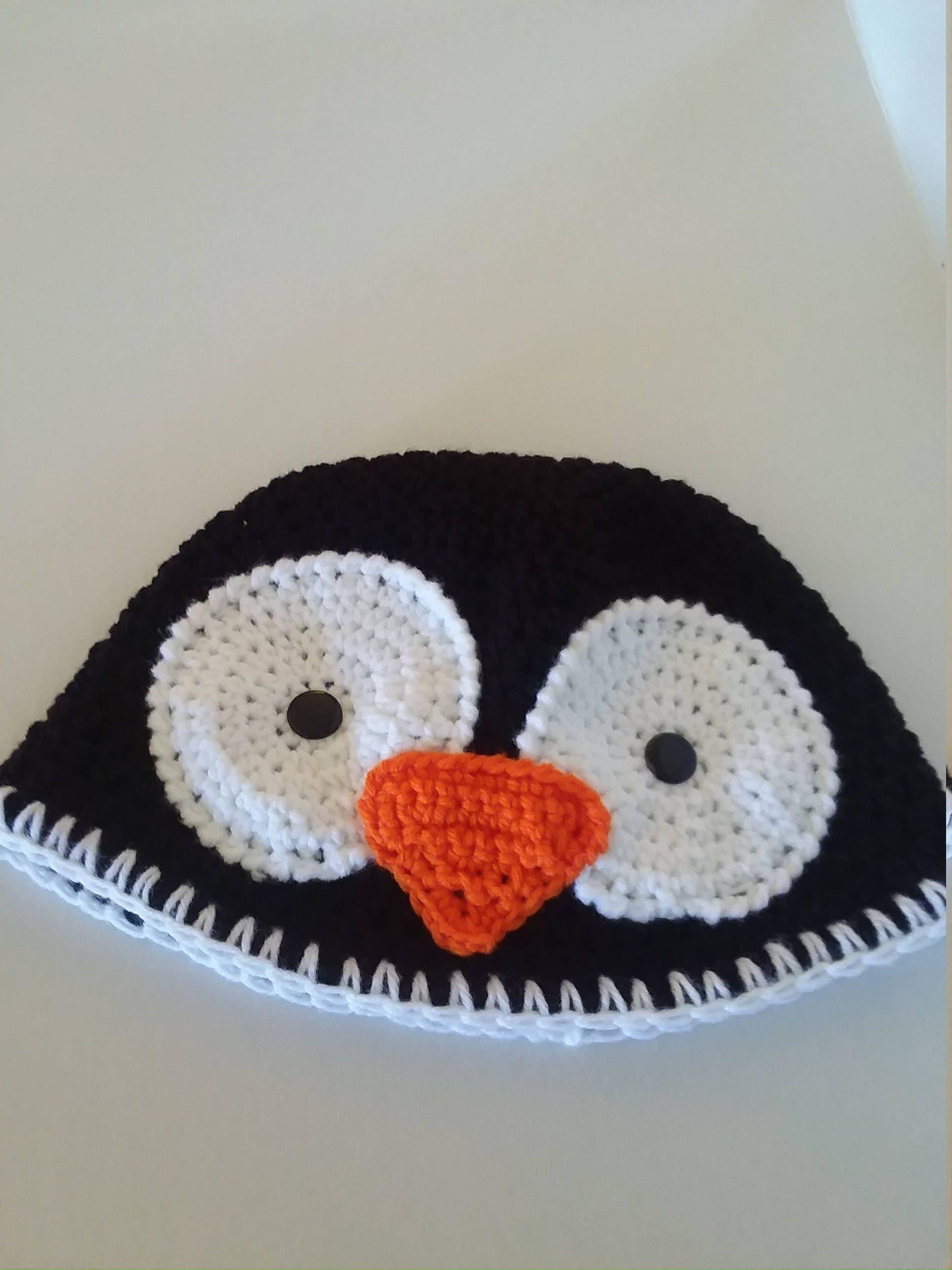 Adult Penguin Hat Crocheted Penguin Hat Teen Penguin Hat Etsy