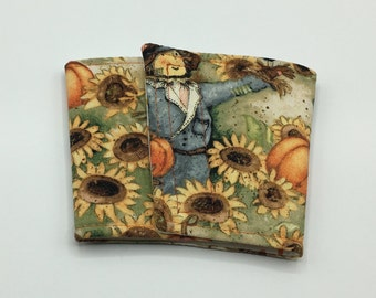 Scarecrow Coffee Cup Cozy, Coffee Cup Sleeve, Cup Cozy, Cup Sleeve, Reusable Coffee Sleeve