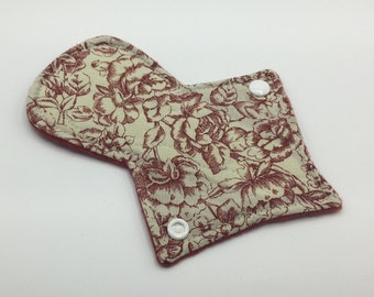 "7"" Light Absorbency Thong Liner, Cloth Pad, Cloth Menstrual Pads, Cloth Pantyliner, Mama Cloth, Thong Pad, Zero Waste, Ecofriendly"