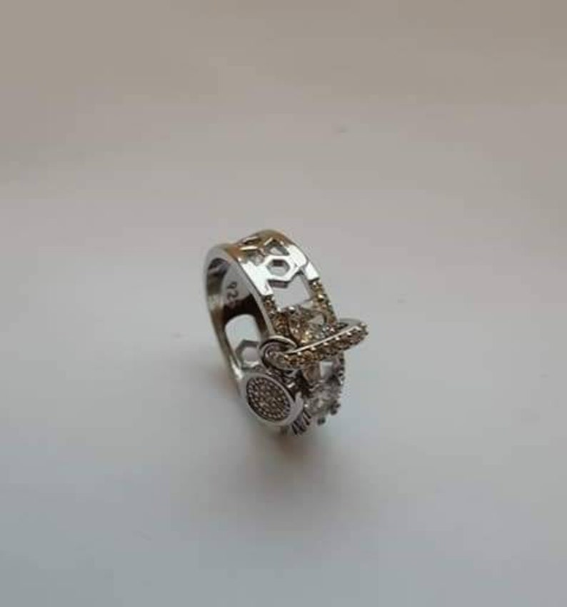 Gorgeous women 925 Silver wedfing rings Jewerly white sapphire ring size 7