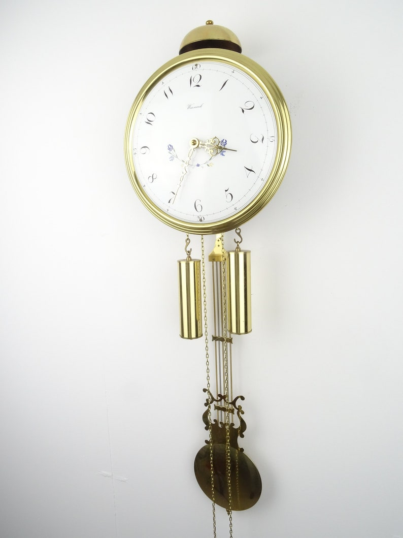Warmink Wuba Dutch Comtoise Antique vintage Wall 8 Day Clock Holland Pays-Bas (Junghans Hermle Kienzle era)