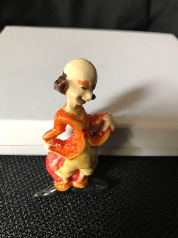 Vintage/Antique Hand Paint Celluloid Clown Brooch
