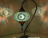 FREE SHIP Table Lamp Turkish Lamp Goose Neck Lamp Bedside Lamp Moroccan Lantern Night Lights 17 quot Height