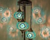 Turkish Lamp Floor Lamp Bedside Lamp Moroccan Lamp 40.50 quot Height 7 quot Globe Diameter