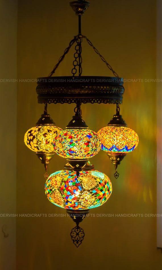 Lighting Fixtures Mosaic Chandelier Ceiling Lamp Ceiling Light Etsy