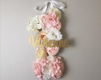 1st birthday number / birthday flower / decor birthday / flower number 1   / 1st birthday floral/ boho number 1/ flower first birthday decor