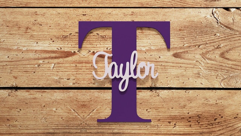 custom nursery decor Capital letter with Name personalized children/'s decor name sign Personalized name on large letter