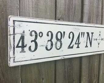 3fa2e5978a LATITUDE LONGITUDE Sign | Coordinates Sign | Custom Longitude Latitude Wood  Sign | Home Coordinates | GPS Coordinates Sign | Closing Gift