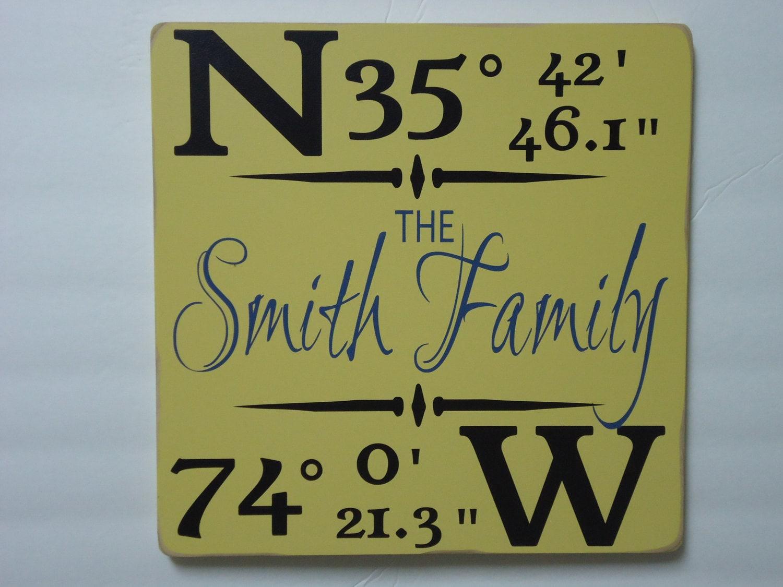 6997ce729f Personalized latitude longitude sign/custom family latitude longitude ...