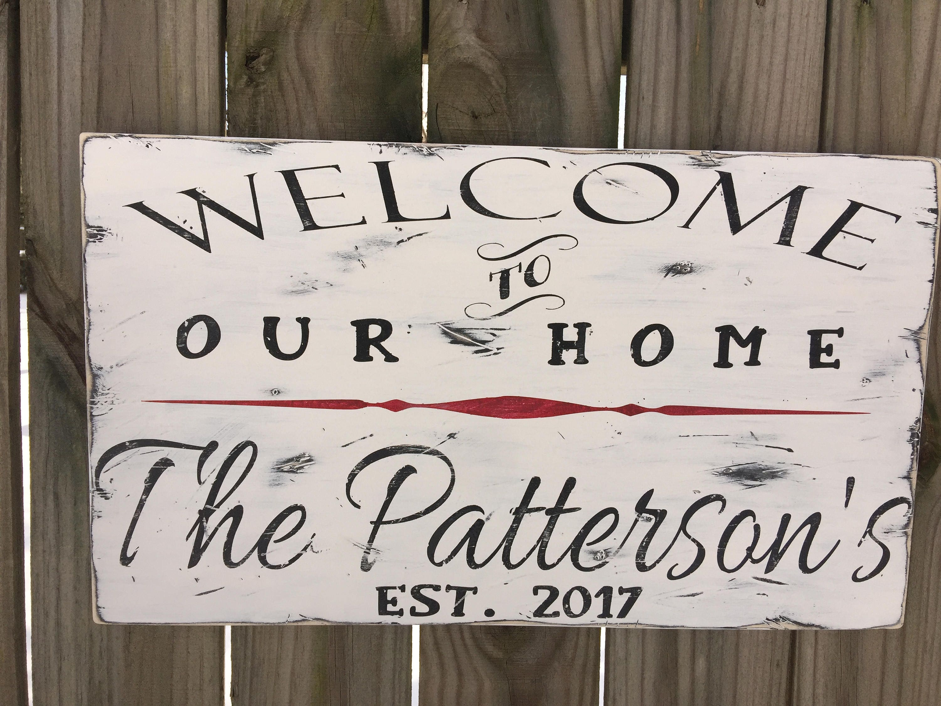 welcome signs personalized - 570×428