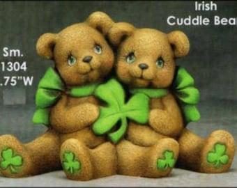 FREE SHIPPING Ceramic Cuddle Bears Watermelon Cuddle Bears Baseball Cuddle Bears Ceramic Bisque Cuddle Bears