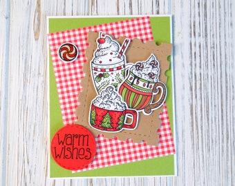 Cocoa Warm Wishes Handmade Card