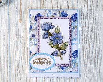 Wishing You a Beautiful Day Handmade Card