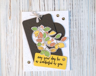 Wonderful You Handmade Card