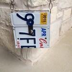 California License Plate Purse