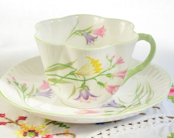 Shelley Freesia dainty tea cup and saucer