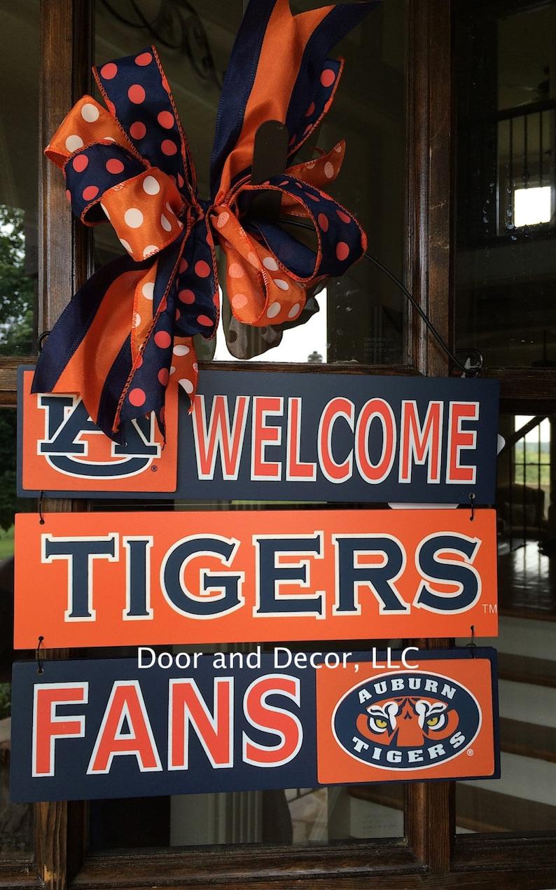 Auburn Tigers~War Eagle~Door Hanger~Tigers~12x10 Wooden Sign