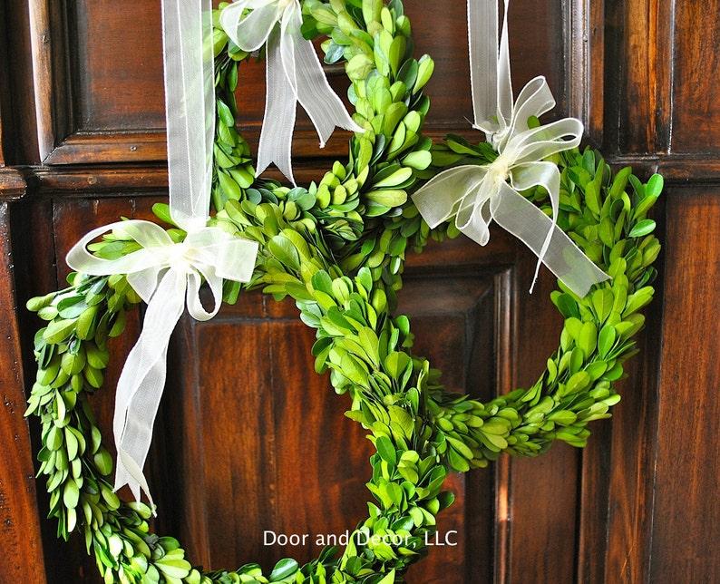 Mini Preserved Boxwood WreathCandle RingYear Round Interior image 1