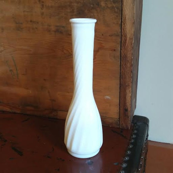 Hoosier Glass Co Milk Glass Vase 4094 Milk Glass 4094 Vase Etsy