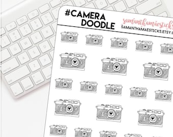Camera Doodle Icon for use with Erin Condren Lifeplanner™ Happy Planner Stickers