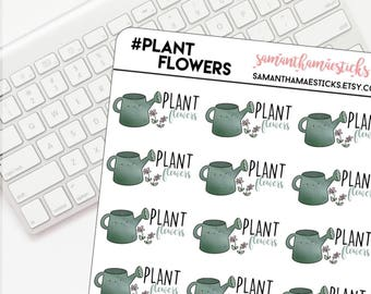 Plant Flowers Kawaii Icon for use with Erin Condren Lifeplanner™ Happy Planner Stickers