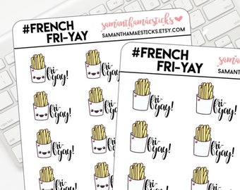 Kawaii French Fri-Yay! Icon for use with Erin Condren Lifeplanner™ Happy Planner Stickers
