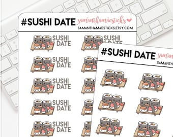 Kawaii Sushi Date Icon for use with Erin Condren Lifeplanner™ Happy Planner Stickers