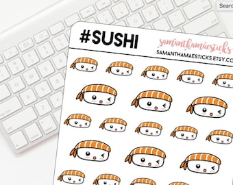 Kawaii Sushi Ebi for use with Erin Condren Lifeplanner™ Happy Planner Stickers