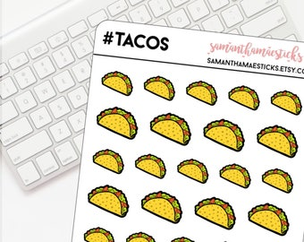 Tacos for use with Erin Condren Lifeplanner™ Happy Planner Stickers