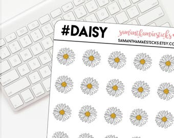 Daisy Icon for use with Erin Condren Lifeplanner™ Happy Planner Stickers