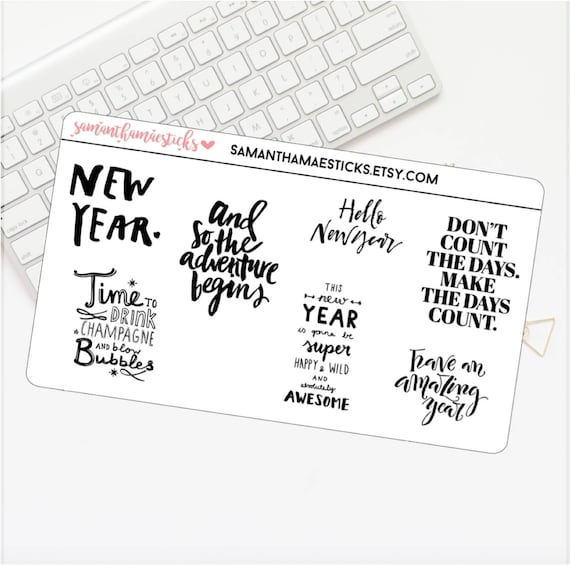 NEW YEAR Inspiration Fun Quotes Functional Sheet Icon Erin Etsy Interesting New Year Inspiration Quotes