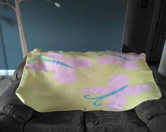 Fluttershy Cutie Mark Crochet Blanket