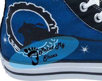 Custom shoes, Galaxy, converse, hand painted shoes, tv shoes, free shipping in the US