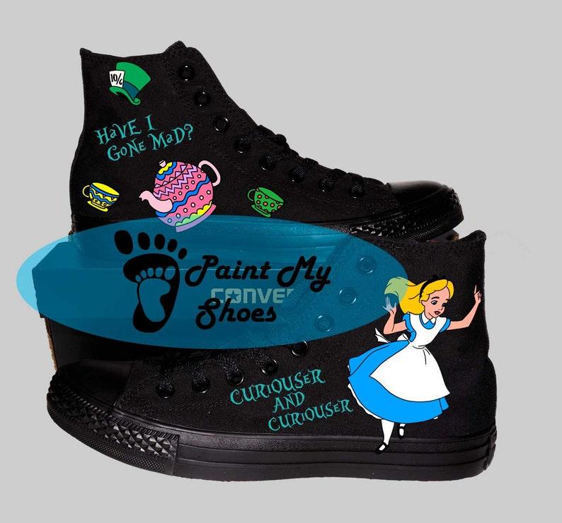 e725bb1b4a Custom shoes, converse, monochrome black, cartoon shoes, free shipping in  the US