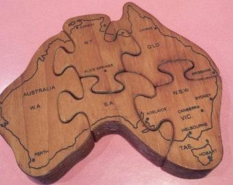 Australia Map Jigsaw.Australia Puzzle Map Etsy