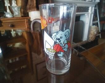 Collectible Glass Blinky Bill Koala Sports series Basketball  c2000 Nutella Australia Sydney Olympics unused