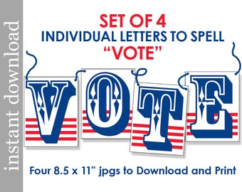 vote printable vote sign election day vote download etsy