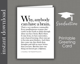 Printable Graduation Card High School Graduation College Etsy