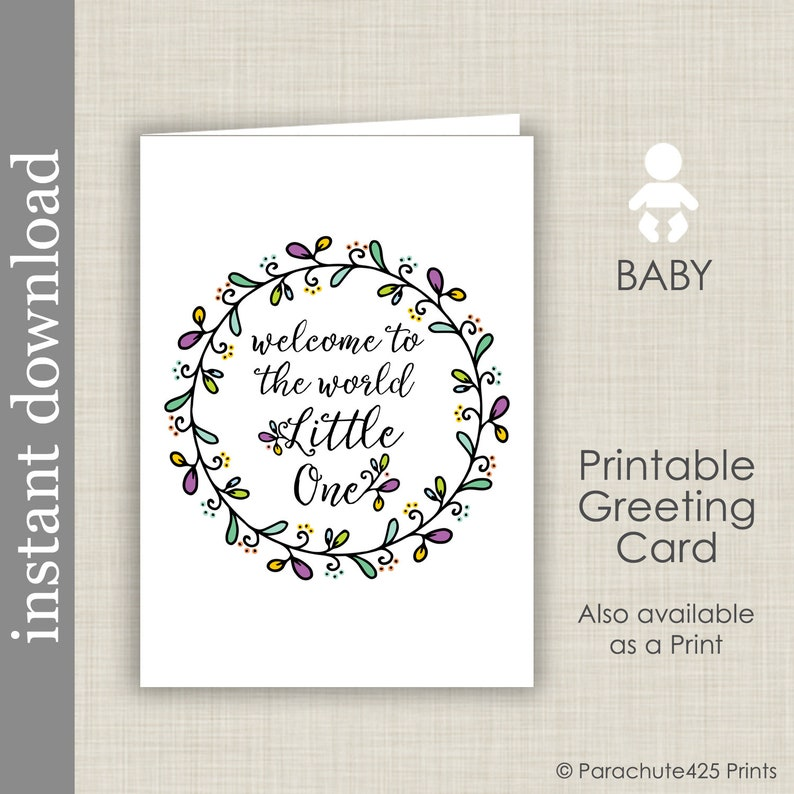Printable Baby Card Baby Shower Card Baby Congratulations Etsy