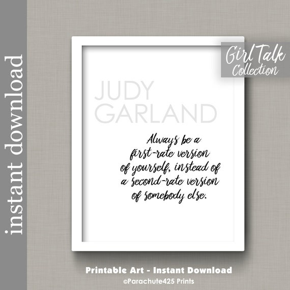 graphic relating to Quote Printable named Judy Garland Estimate, Printable wall artwork, Woman Speak Estimates, initial cost edition, anti bullying, commitment quotation, lady electricity, reward for teenager