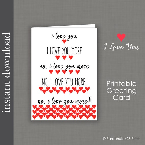 Printable card anniversary card i love you more funny etsy image 0 m4hsunfo