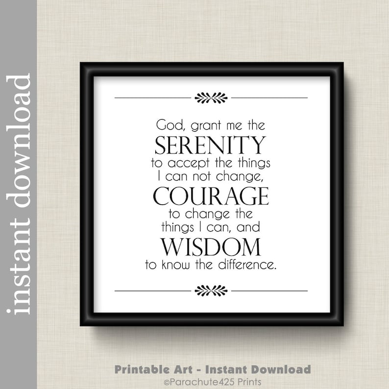 graphic relating to Serenity Prayer Printable known as Serenity Prayer, serenity printable, electronic down load, enthusiasm print, encouragement, AA assistance, psychological assistance, Reinhold Niebuhr