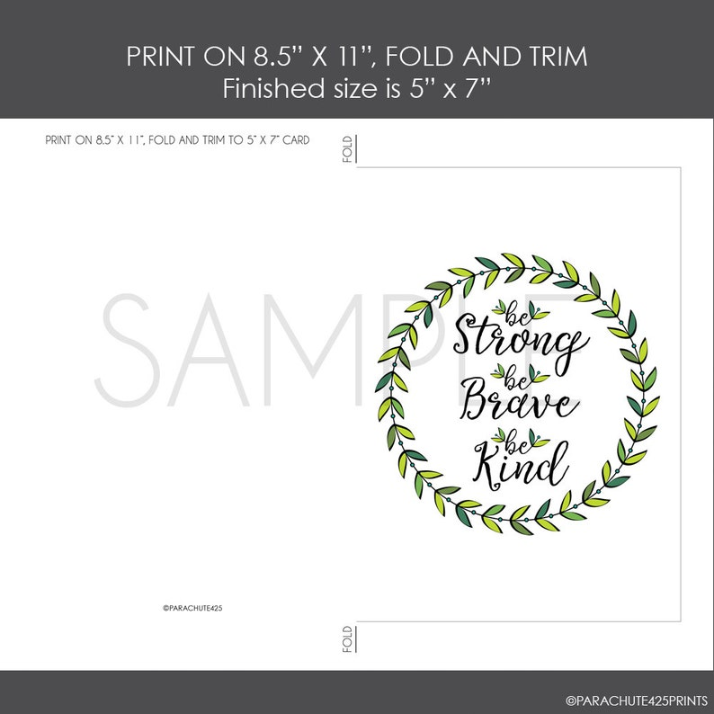 baby shower card Be Strong card download baby shower gift baby congratulation expecting baby card baby quote card Printable Baby Card