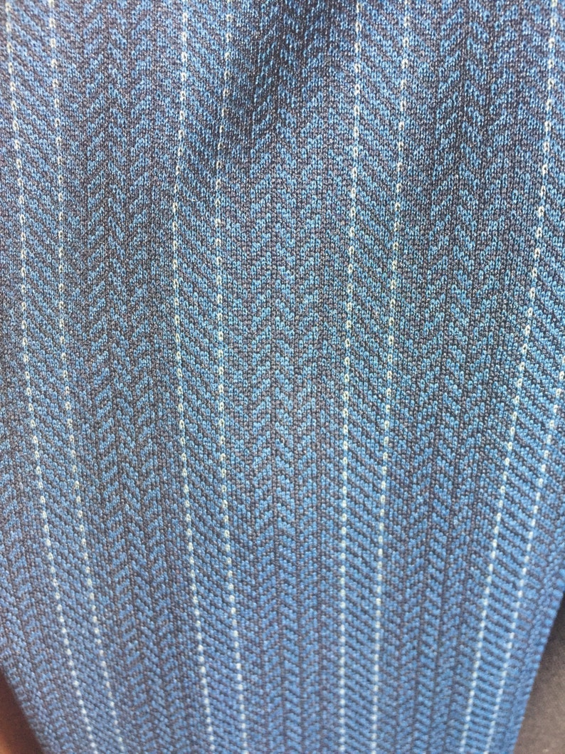 polyester herringbone woven two piece suit. Vintage