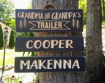 Wooden Name boards for Trailer Signs,outdoor camping signs
