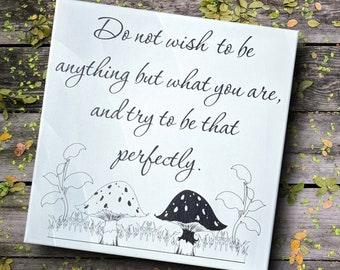 Inspiration wall art, Don't wish to be anything sign, motivational quote, inspirational print, white canvas print