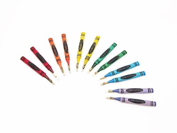 "LARGE 1980's vintage crayon bobby pins, 2.7"" hand-"