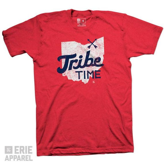 ebf4907f Tribe Time Tee Red Cleveland Baseball Tribe Time Indians | Etsy
